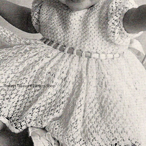 Baby Lace Dress Crochet Pattern