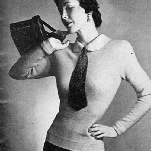 Vintage Knitted Torso Blouse pattern