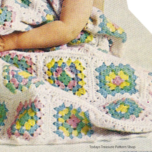 Granny Baby Afghan Crochet Pattern