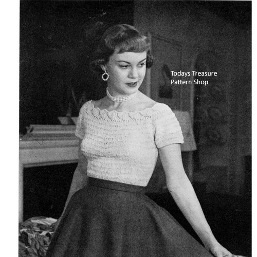 Vintage Blouse Pattern in Crown Stitch