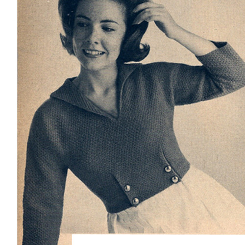 Knitting pattern cropped sailor blouse