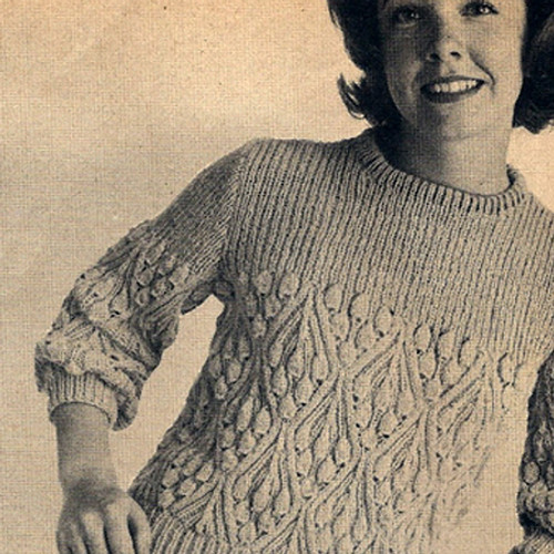 Bluebell Knitted Blouse pattern, Vintage 1960s