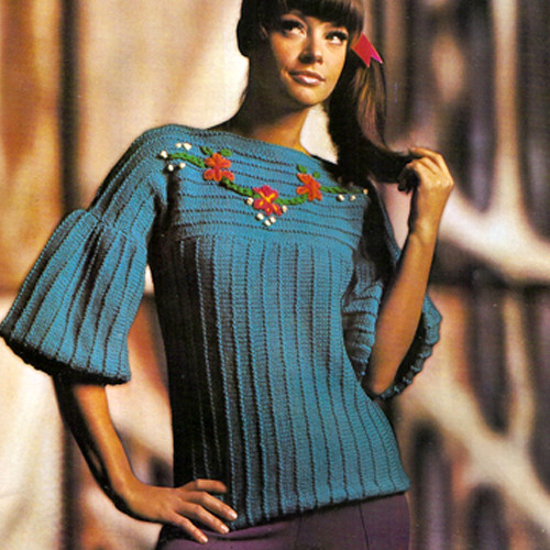 Bell Sleeve Knitted Tunic Pattern