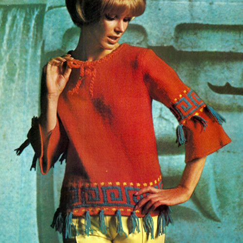 Vintage Fringed Tunic Knitting pattern