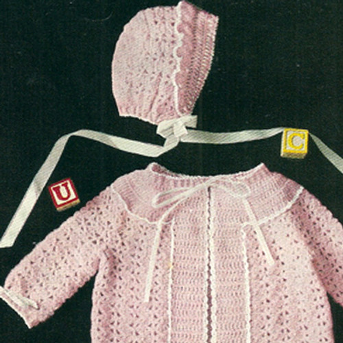Pink Baby Jacket Crochet Pattern