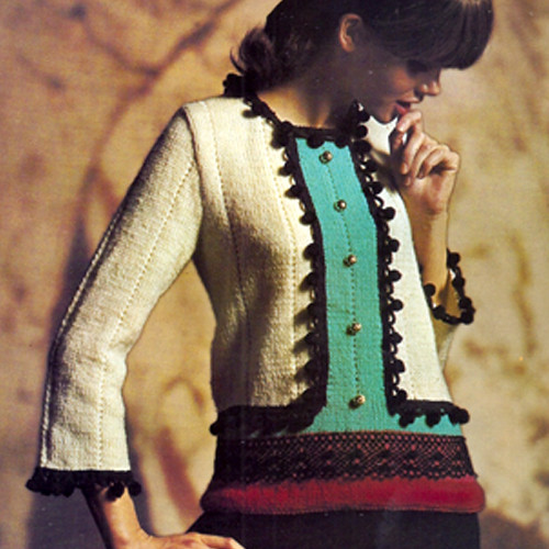 Vintage Knitted Pullover Pattern from Columbia Minerva