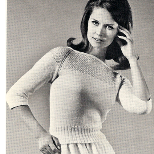 Sequin Yoke Knitted Sweater Pattern