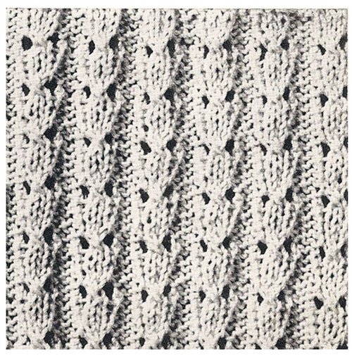 Blouse Knitted Pattern Stitch Illustration