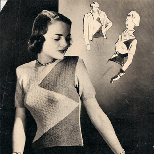 Vintage Knit Triangle Sleeveless Blouse pattern