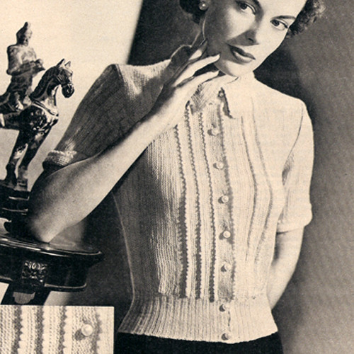 Vintage Classic Blouse Knitting pattern