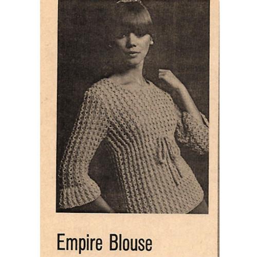 Vintage Empire Blouse Knitting Pattern