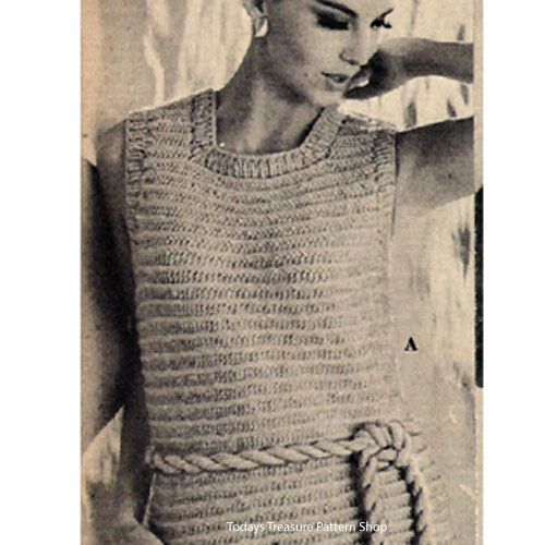 Ribbed Shell,  Beginners Knitting pattern