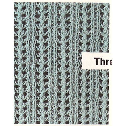 Knitted Top Pattern Stitch Illustration