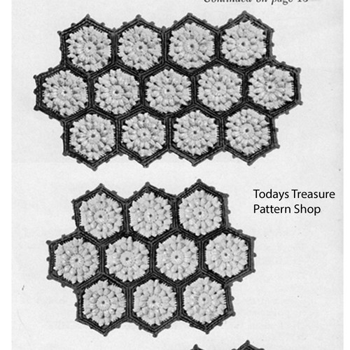 Crocheted Mats Pattern in Popcorn Medallions