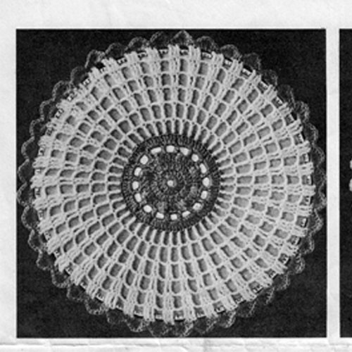 Crocheted Sunburst Potholder Illustration