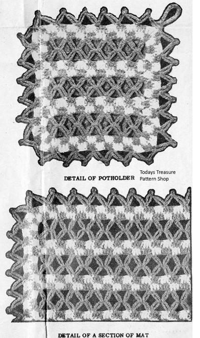 Crochet Potholders Illustration