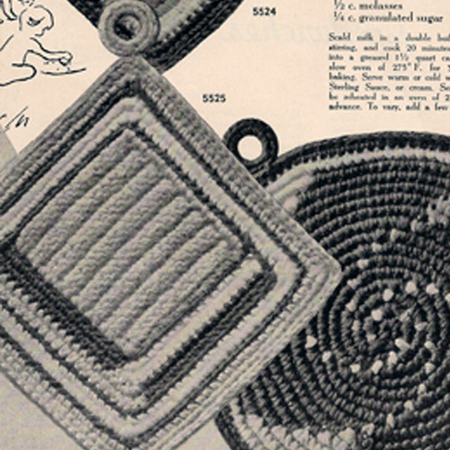 Crochet Square Potholders pattern from American Thread