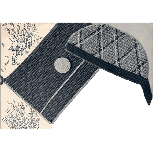 Potholders Crochet Pattern, Book Book & Cap