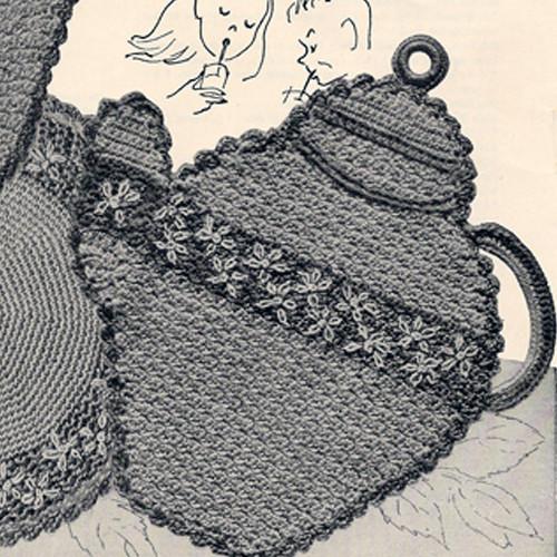Vintage Teapot Potholder Crochet Pattern