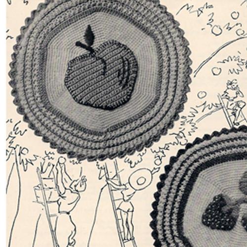 Crochet Apple Potholder Pattern
