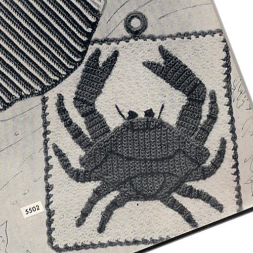 Crochet Crab Potholder Pattern