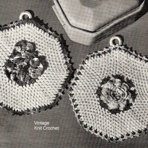 Crochet Octagon Potholder Pattern in Pansy Motif