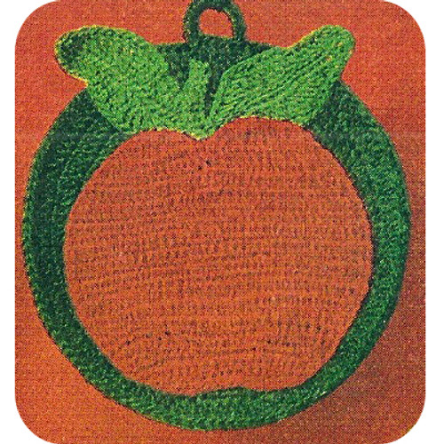 Crocheted Apple Potholder pattern