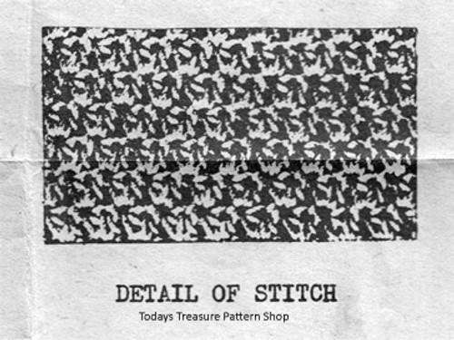 Detail of Crochet Pattern Stitch