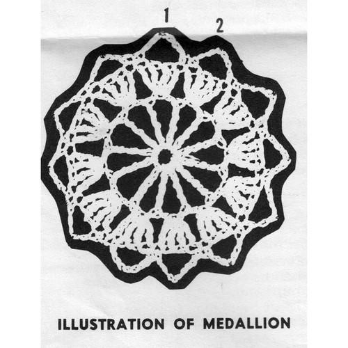 Crocheted Medallion Illustration