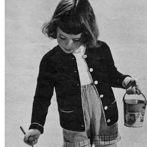 Vintage Girls Crocheted Cardigan Pattern