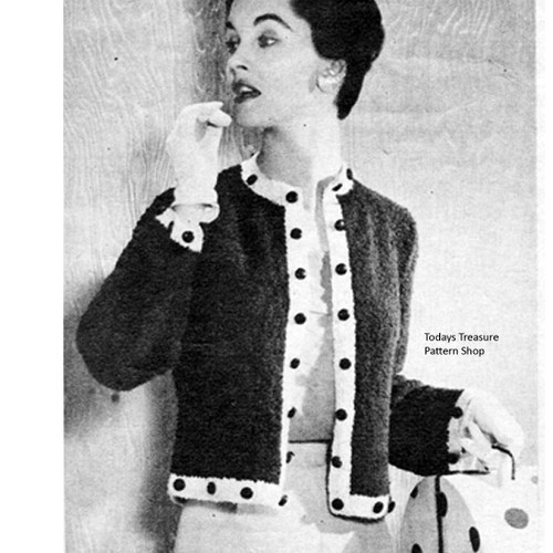 Vintage Button Trimmed Cardigan Knitting pattern
