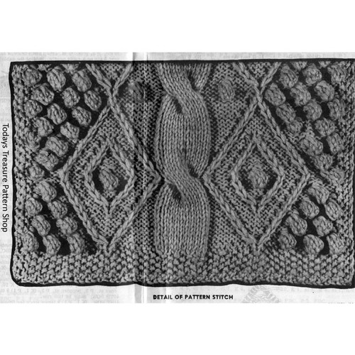 Irish Knit Jacket Pattern Illustration