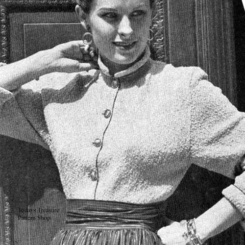 Knitted Dolman Sleeved Blouse Pattern