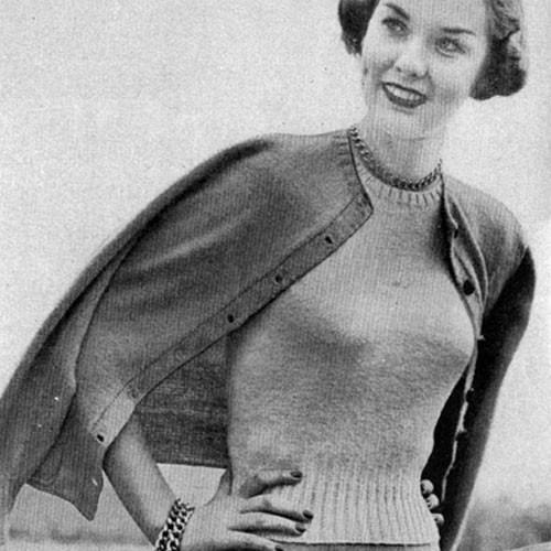 Vintage Cardigan and Knitted Blouse pattern