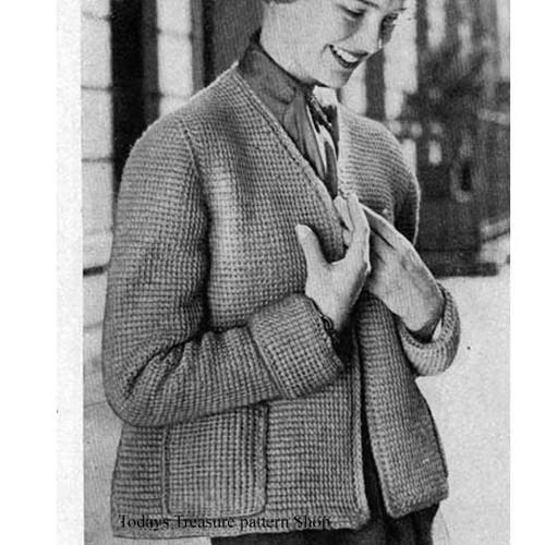 Vintage Crochet Topper Jacket Pattern