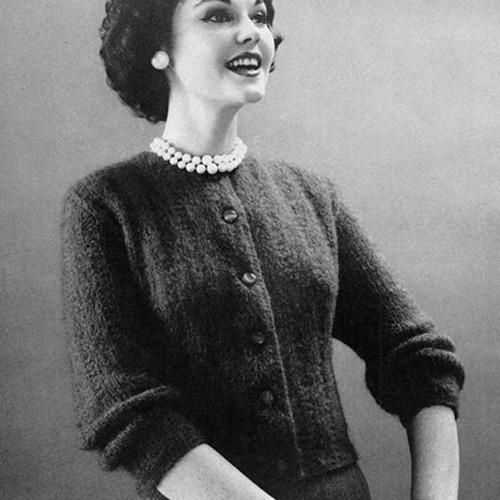 Basic Knitted Cardigan Pattern from Bernat