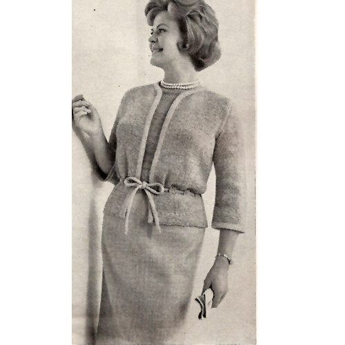 Womans Knitted Nob Hill Jacket Pattern