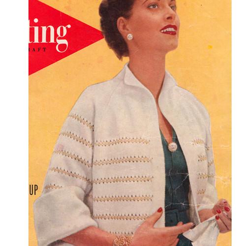 Metallic Striped Cardigan Knitting Pattern