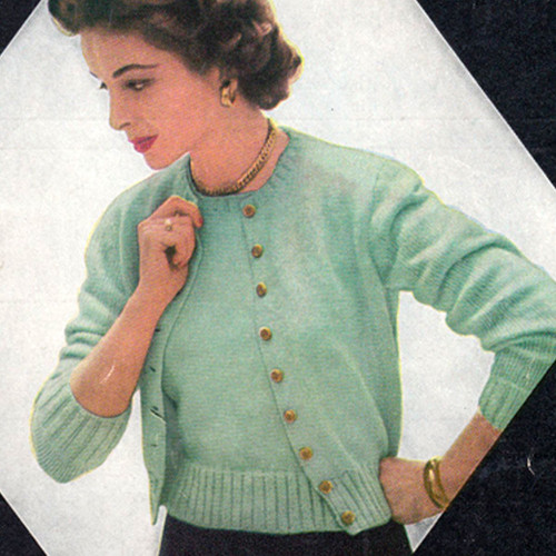 Vintage Knitted Sweater and Shell Set from American Thread