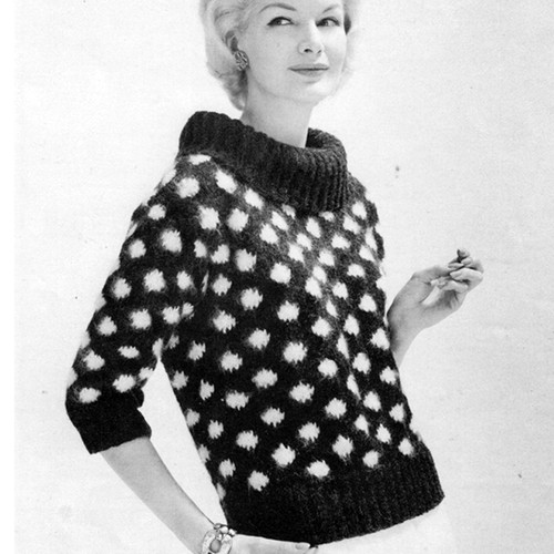 Cowl Collared Jacket Knitting Pattern with Cowl Collar