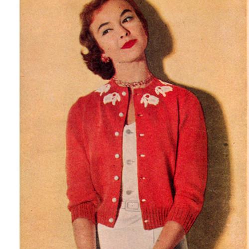 Vintage Classic Short Cardigan Knitting pattern