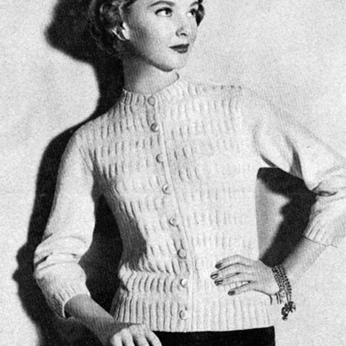 Rib Stripe Cardigan Knitting Pattern