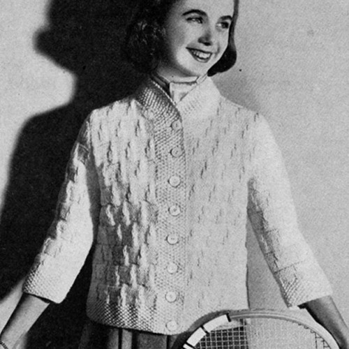 Knitting Pattern Teens Jacket in Seed Stitch