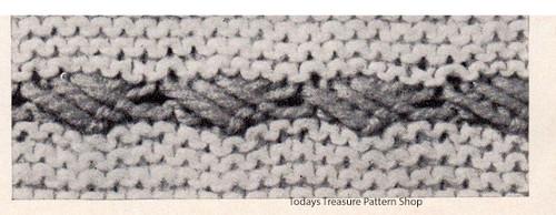 Knitted Stripe Illustration