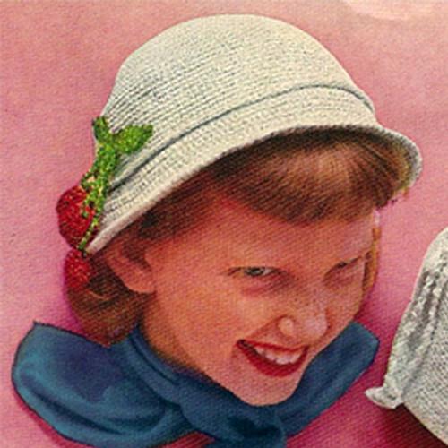 Girls Easy Crocheted Cloche Pattern