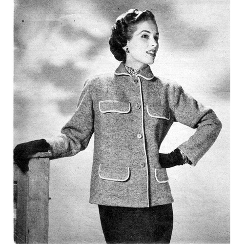 Knitted Long Jacket with Four Pockets