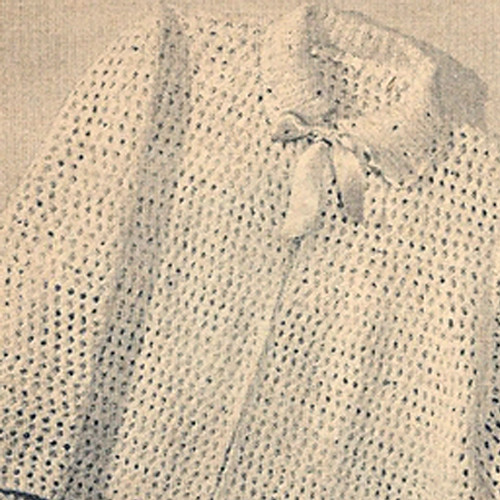 Lightweight Knitted Bedjacket pattern