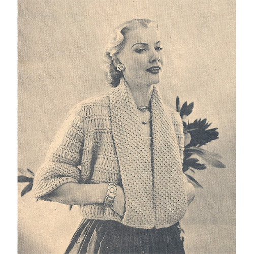 Panel Convertible Coat Knitting pattern
