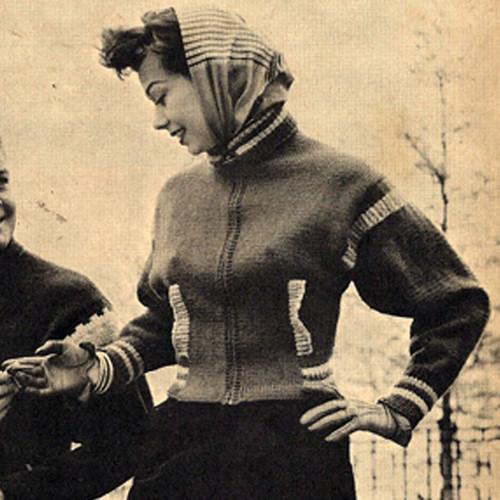 Dolman Knitted Sports Jacket Pattern