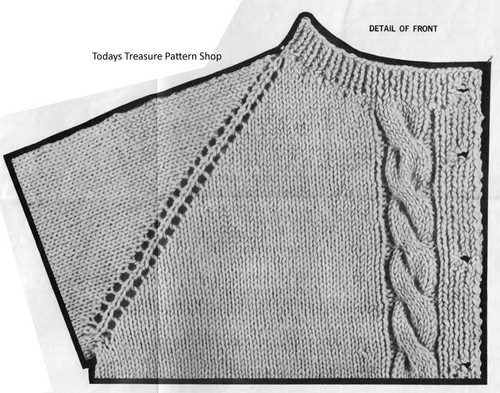 Cable jacket knitted Detail